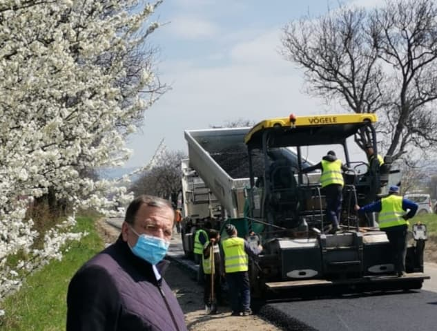 Gheorghe Flutur a inspectat stadiul lucrărilor de la drumul județean Suceava-Liteni-Dolhasca VIDEO