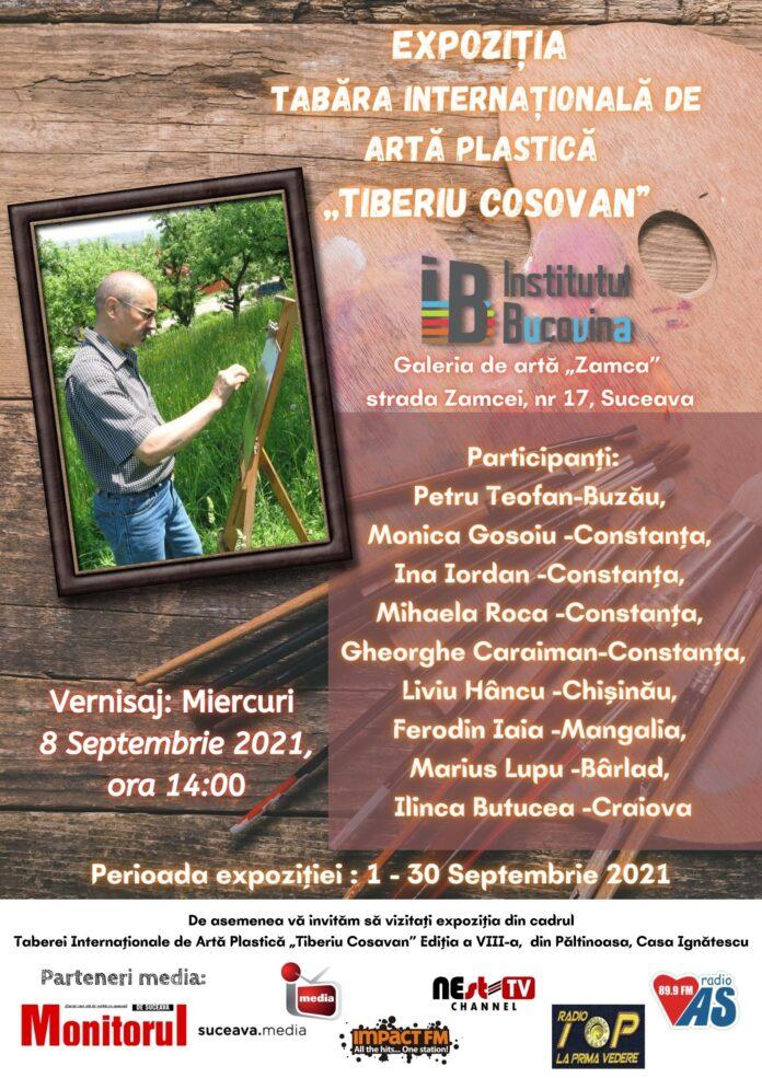 """Asociația Institutul Bucovina vă invită la expoziția Tabăra Internațională de Artă Plastică """"Tiberiu Cosovan"""""""
