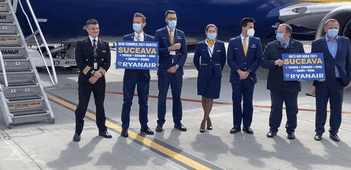 Vineri a fost inaugurat primul zbor direct operat de compania Ryanair de pe Aeroportul Suceava VIDEO
