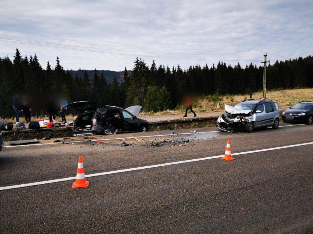 Accident rutier cu cinci victime pe raza comunei Poiana Stampei FOTO VIDEO