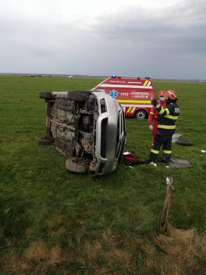 Accident rutier cu două persoane rănite la ieșire din Rădăuți FOTO