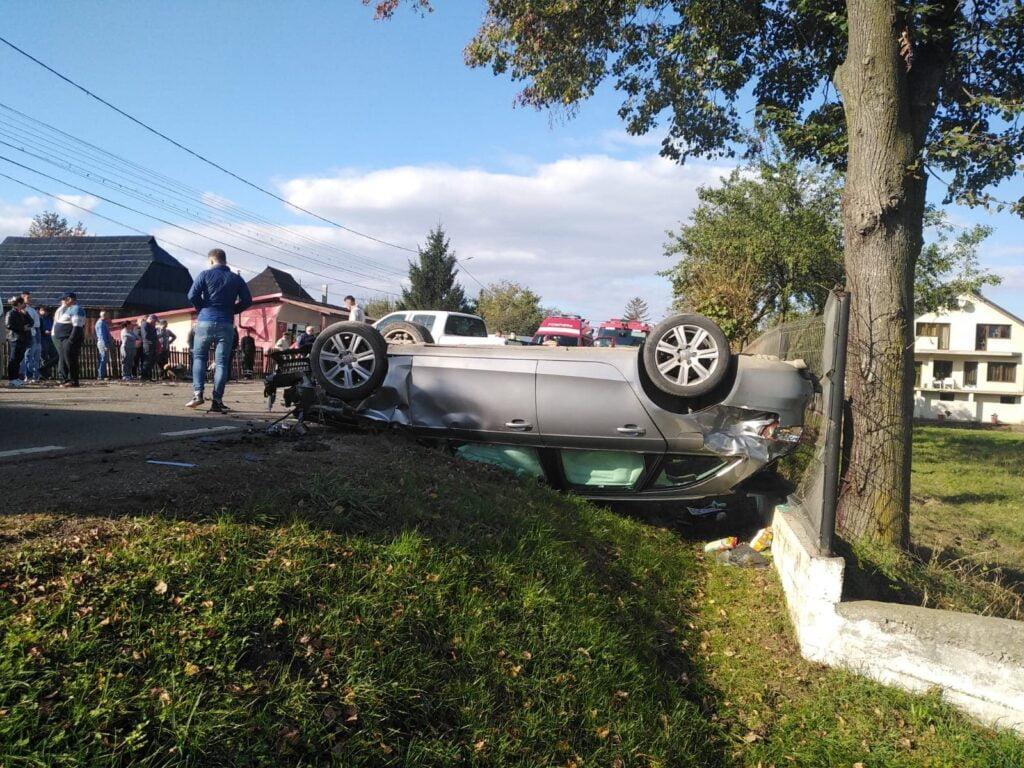 Accident rutier cu două victime pe raza localității Vicovu de Jos FOTO