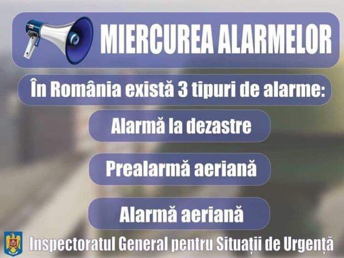 """""""Miercurea Alarmelor"""" exercițiu de înștiințare, avertizare și alarmare în situații de urgență"""