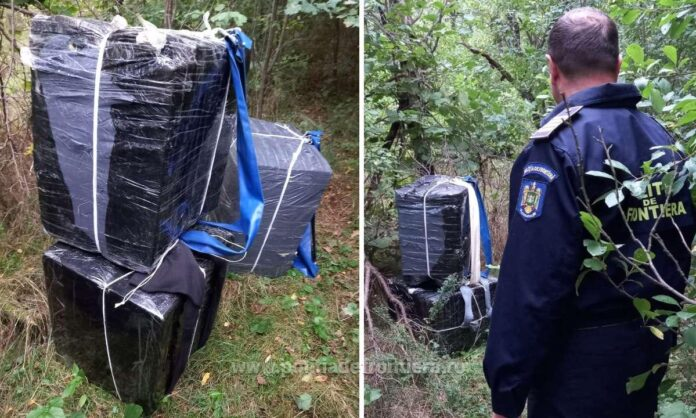 Țigări în valoare de aproape 70.000 de lei, abandonate în zona Costileva