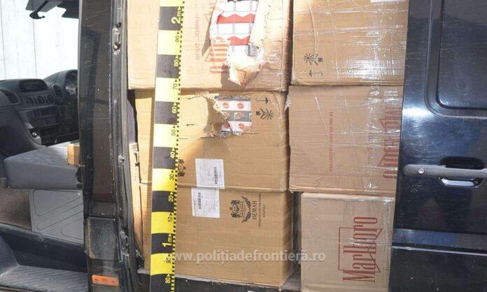 Țigări de contrabandă în valoare de aproximativ un milion de lei, confiscate de polițiștii de frontieră de la Siret VIDEO