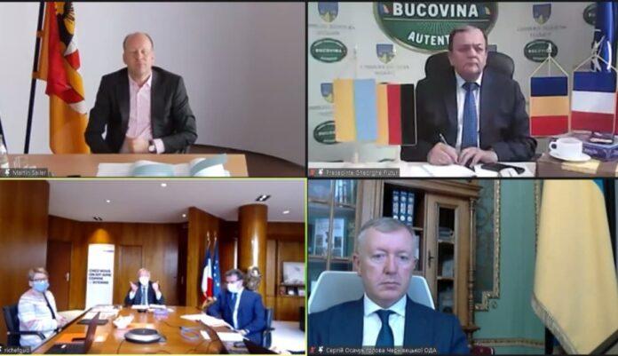 Discuții cu partenerii județului Suceava din Schwaben, Mayenne și Cernăuți în vederea pregătirii unor proiecte comune