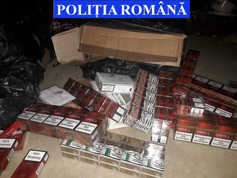 Percheziții în municipiul Suceava. Șase persoane au fost reținute pentru contrabandă de țigări FOTO