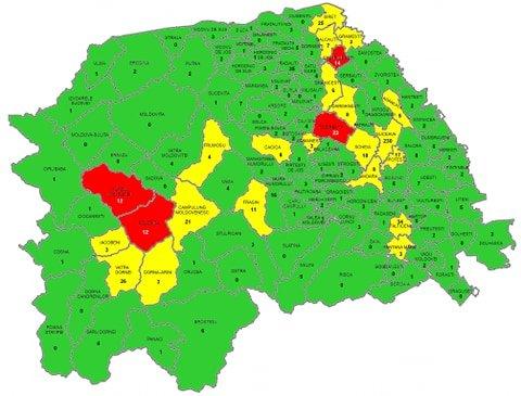 720 de cazuri Covid 19 în evoluție în județul Suceava. Vezi situația în fiecare localitate