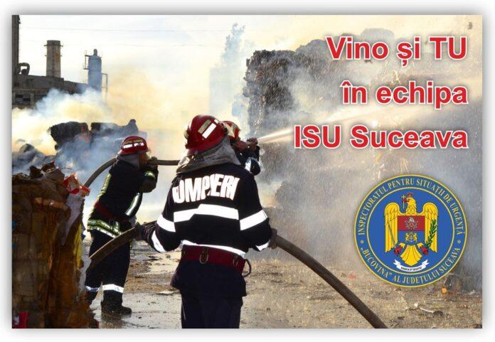 Angajări fără concurs la ISU Suceava. Vezi ce posturi sunt disponibile