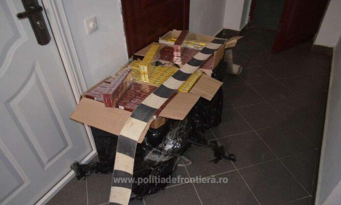 Țigări de contrabandă în valoare de peste 20.000 de lei, confiscate de polițiștii de frontieră