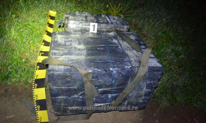 Țigări de contrabandă transportate cu drona, abandonate în zona Vicovu de Sus